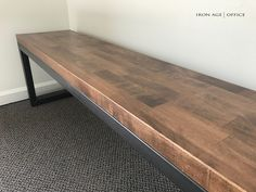 The Rowan Bench | industrial office furniture | | modern industrial commercial furniture | | rustic office furniture | http://www.ironageoffice.com/