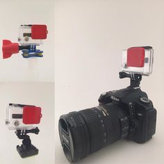 Hot off the #3dprinter by Adam @makersacres ! A great gift for the photographer in your life! Don't mess around with the chest mount or the head mount! Mount your GoPro right to your camera and film while you shoot! #3dprinting #handmadechristmas #makersacres #gopro #goprophotography #goproeverything #photographer #weddingphotography #weddingphotographer by makersacres