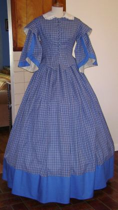 Custom Order Civil War Day Dress Upon Request by historicaldesigns $145+