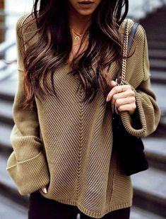 #winter #fashion /  Army Top   Black Shoulder Bag