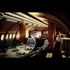 Flying in style! Silver service training for VIP flight attendant - details at www. Private Jet Interior, Contemporary Cabin, John Waters, Private Jets, Air Travel, Rich Girl, Flight Attendant, Choppers, Thailand Travel
