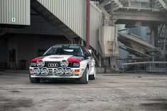 '80s Audi Quattro Rally car. I'd love to drive this beast!