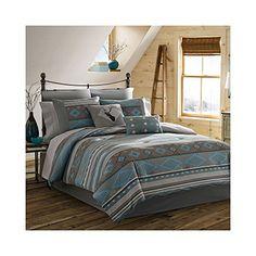 True Timber Southwest Comforter Set Full Teal >>> Click on the image for additional details.