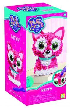 maskotka tkana - różowy kotek - Plush Craft - DIY | MaliCiekawscy.pl