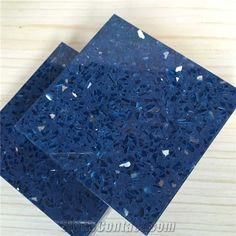 Sparkle Blue Quartz Stone with Bright Surfaces for Prefab Countertops Your First Kitchen Countertop Options Nonporous More Durable Than Gran...