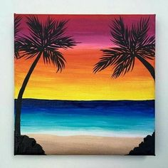 Sunset (no directions) Beach Canvas Paintings, Oil Pastel Paintings, Oil Pastel Art, Easy Canvas Painting, Summer Painting, Oil Pastels, Beach Sunset Painting, Oil Pastel Drawings Easy, Sunset Paintings