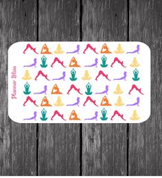 Yoga Planner Stickers  - Erin Condren, Kikki K, Filofax, Plum Paper, Fitness, Gym, Class