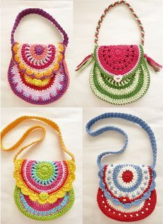 free crochet pattern little girl purse - Google Search                                                                                                                                                      Mais