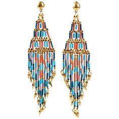 Leuke, vrolijke gekleurde oorbellen in het goud en lichtblauw!! Echte eyecatchers #oorbellen #trends #love #girls #accessoires