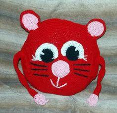 ein Kollegenwunsch - rote Katze mit Ärmchen und Schwanz
