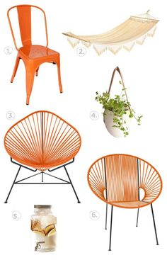 Vintage Hammock and outdoor chairs