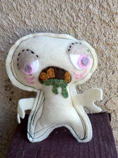 Little Puking Zombie OOAK Feltie.