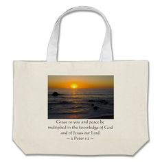 2 Peter 1:2 Canvas Bag by Scripture Classics #gift #zazzle #photogift #bible #Christian