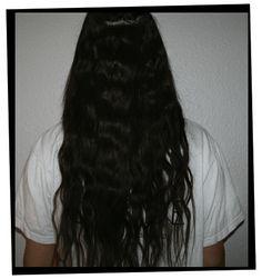 #sort #langt #hår #som #hun #har #før #hun #bytter #til #det #hvide #hår