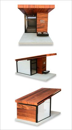 Introducing the Modern Dog House. RAH:DESIGN has created a modern dog house that you can see on the photos in the gallery below and named it Dog Haus. Pallet Dog House, Dog House Plans, House Dog, Large Dog House, Modern Dog Houses, Cool Dog Houses, Luxury Dog House, Dog Furniture, Dog Rooms