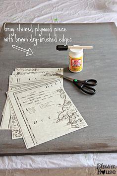 Bless'er House | DIY Oversized Vintage Irish Map Restoration Hardware KnockOff