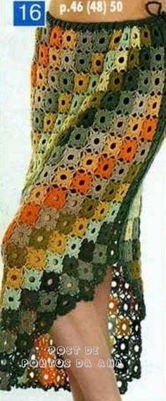 Fabulous Crochet a Little Black Crochet Dress Ideas. Georgeous Crochet a Little Black Crochet Dress Ideas. Beau Crochet, Moda Crochet, Crochet Granny, Knit Crochet, Crochet Stitches, Crochet Bodycon Dresses, Crochet Skirts, Crochet Clothes, Crochet Square Patterns