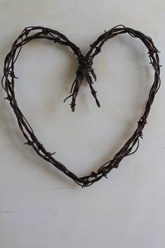 handmade rusty barbed wire heart wall decor by jackrabbitflats, $22.95