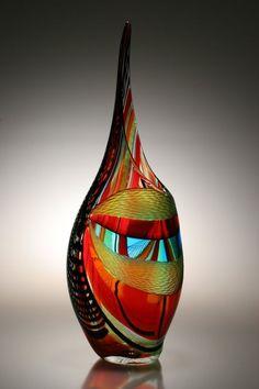Custom Made Murano Art Glass Vase By Afro Celotto by Joseph Wright