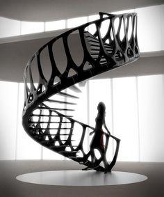 Vertebrae Staircase By Andrew McConnell Via Peter Preisler