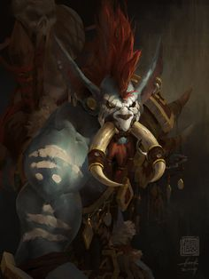 Vol'jin by 6kart | Fan Art / Digital Art / Drawings / Games | World of Warcraft / Fantasy Character Jungle Troll