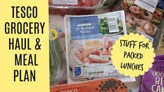 Tesco grocery haul and meal plan