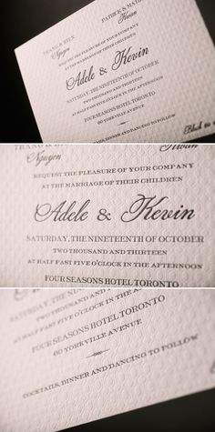 Modern and Minimal letterpress wedding invitations | Bella Figura