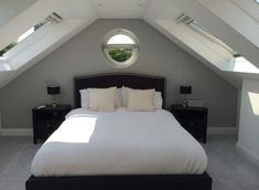 Bedroom attic grey loft conversions 19 ideas for 2019 Bedroom a. Bedroom attic grey loft conversions 19 ideas for 2019 Bedroom attic grey loft conv Small Loft Bedroom, Bungalow Bedroom, Attic Master Bedroom, Attic Bedroom Designs, Attic Bedrooms, Extra Bedroom, Loft Room, Bedroom Ideas, Loft Bedroom Decor