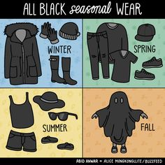 All day, every day (by Alice Mongkongllite)… – Funny Comics Guaranteed To Brighten Your Day Funny Jokes, Hilarious, Funny Shit, Creature Of Habit, Wearing All Black, Happy Colors, Clothing Co, Brighten Your Day, Dark Colors