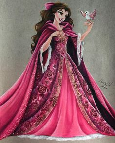 """Belle from """"Beauty and the Beast"""" - Art by Max Stephen (maxxstephen on Instagram)"""