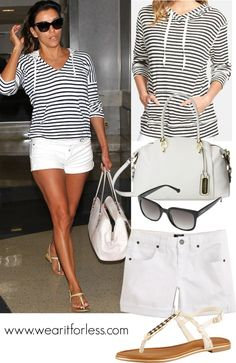 #EvaLongoria goes celebrity street style in the Los Angeles airport - get her look for less!