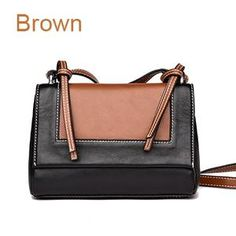 f925e64c1230 MENGXILU Vintage Genuine Leather Bag For Women Messenger Bag Ladies  Crossbody Bags Handbags Women Famous Brand Designer Panelled