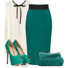office attire - deep turquoise :)