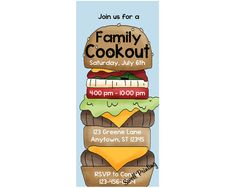 Cookout Party Invitation Cookout Birthday by SwellPrinting on Etsy, $15.00