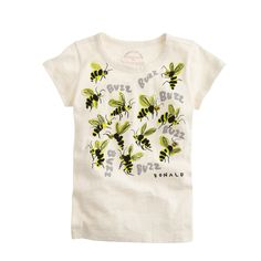 In honor of Earth Day today, the retailer will launch a Save the Bees campaign, which will donate 50 percent of sales from an exclusive collection of T-shirts to the Xerces Society, an Oregon-based nonprofit for wildlife and its habitat. The initiative falls within J. Crew's Garments for Good program and will offer T-shirts for women and children illustrated by Donald Robertson.