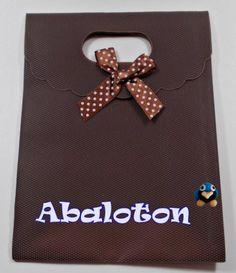 Bolsa plástico duro para regalo color marrón chocolate