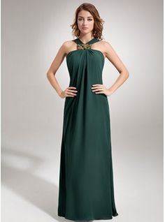Special Occasion Dresses - $133.99 - Sheath/Column V-neck Floor-Length Chiffon Evening Dress With Ruffle Beading  http://www.dressfirst.com/Sheath-Column-V-Neck-Floor-Length-Chiffon-Evening-Dress-With-Ruffle-Beading-017002609-g2609