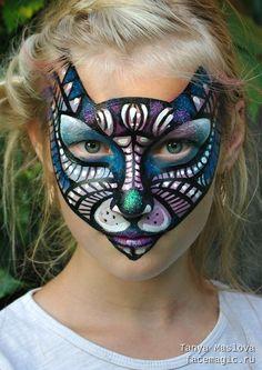 Волшебная кошка. Аквагрим выполнен Таней Масловой.