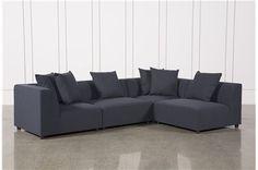 Clayton Dark Grey 4 Piece Sectional Main Living Spaces Sofa Living Spaces Couch Sectional