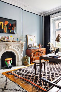HOME VISIT Talking about layers and layering a home – this home in The Village in New York, owned by the interior designer Rodma...