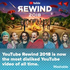 YouTube wishes they could rewind right about now 👎🏻
