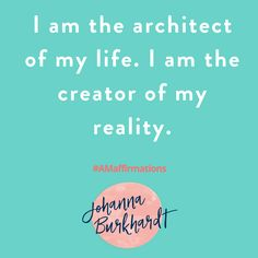 ONLY YOU can make the choice to change your life, your happiness, your wealth etc... So start creating YOUR DREAM reality. #amaffirmations www.johannaburkhardt.com/affirmations