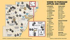 Southeast Michigan apple orchard, cider mill guide for 2017
