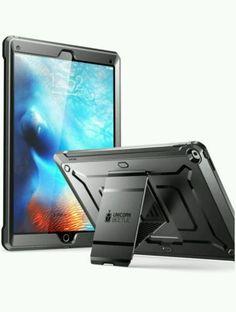 Apple iPad Pro Case 12.9'' Unicorn Beetle Pro and Spigen Glass Screen Protector