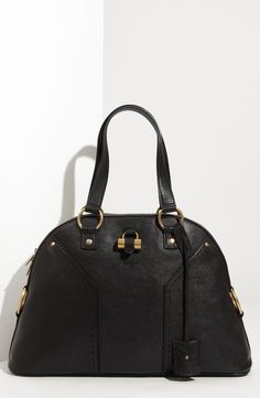 d45e3f277586 Free shipping and returns on Yves Saint Laurent  Muse - Large  Leather Dome  Satchel