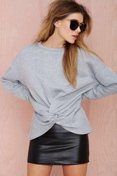 Nasty Gal Knot Hot Sweatshirt - Tops