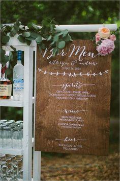 schicke Vintage Hochzeit Getränk Menü Bar Zeichen Ideen chic Hochzeit Unterschrift trinken Bar Zeichen Ideen