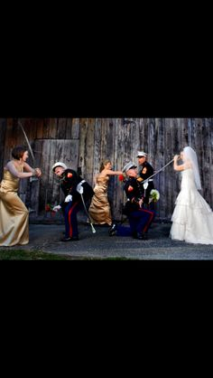 Great contrast to pomp & circumstance military wedding pics! LOL!! Looks like so much fun!