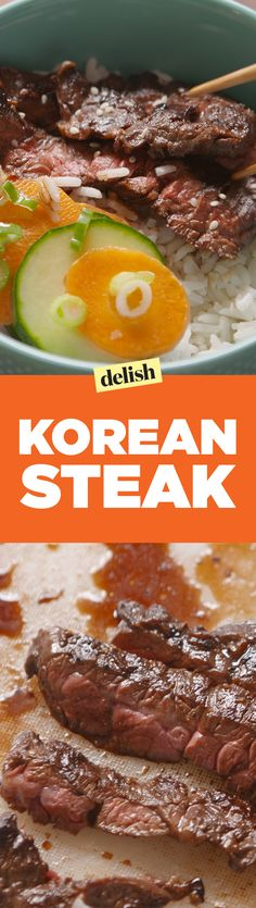 This Korean Steak recipe tastes like you're at an amazing restaurant. Get the recipe on Delish.com.