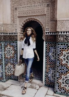 Lachlan Bailey photographed this great editorial in Marrakech for Harpers Bazaar US March 2010. The model is Maryna Linchuk and the fashion editor is ...